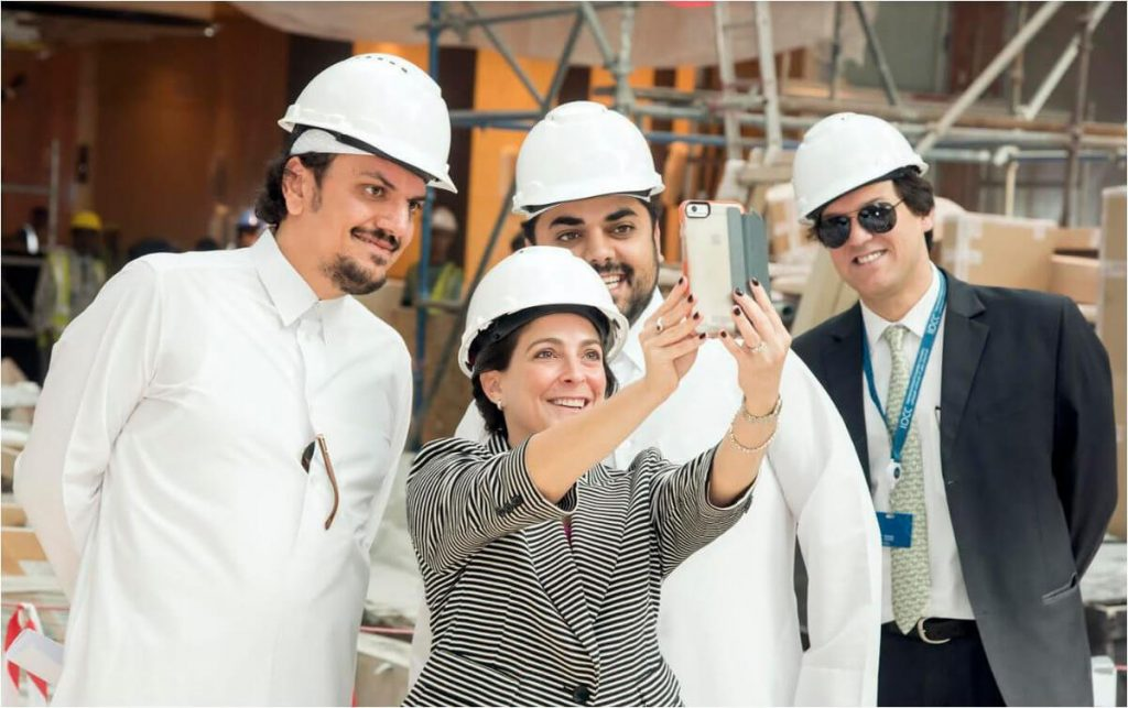 With Former U.S. Ambassador in Qatar, Dana Smith, during site visit to Mall of Qatar (2016)